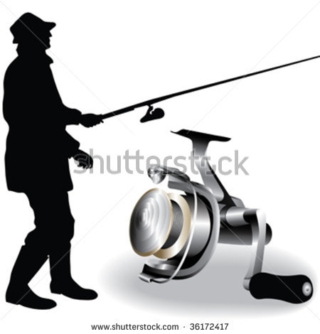 450x470 Fly Fishing Reel Clipart