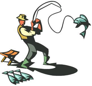 323x299 Free Man Fishing Clipart