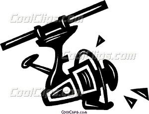 300x231 Fishing Reel Vector Clip Art