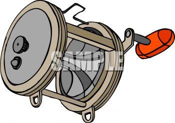 350x246 Cartoon Fishing Reel