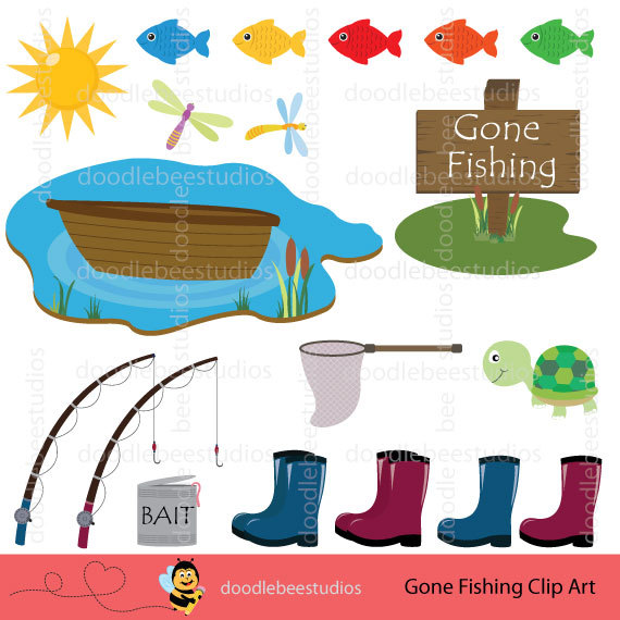570x570 Fishing Clipart, Gone Fishing Clipart, Gone Fishin Clipart