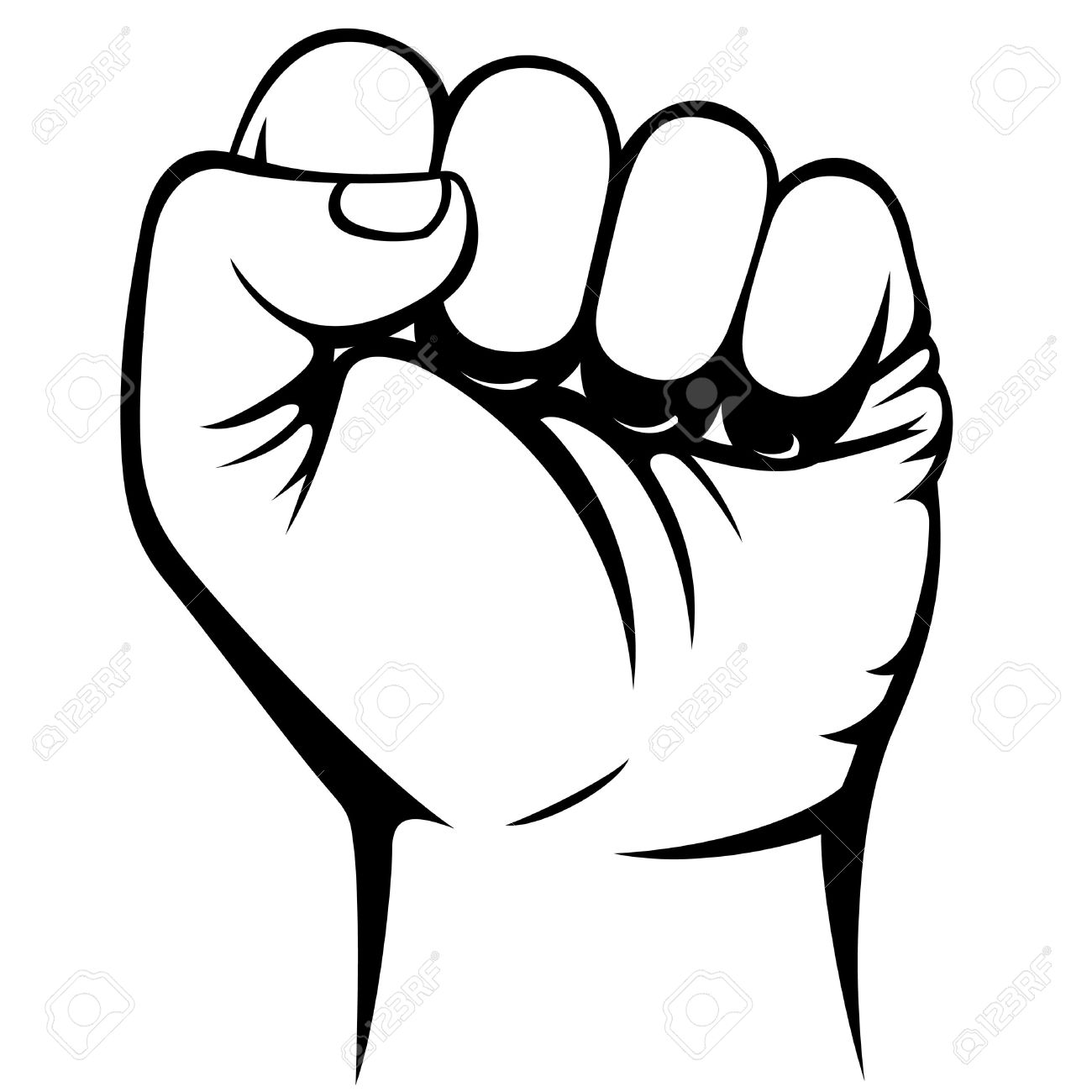 1300x1300 Fist Clipart Clenched Fist