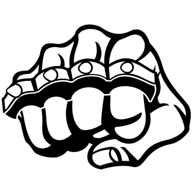 626x626 Fist And Metal Knuckle Illustration Vector Free Download
