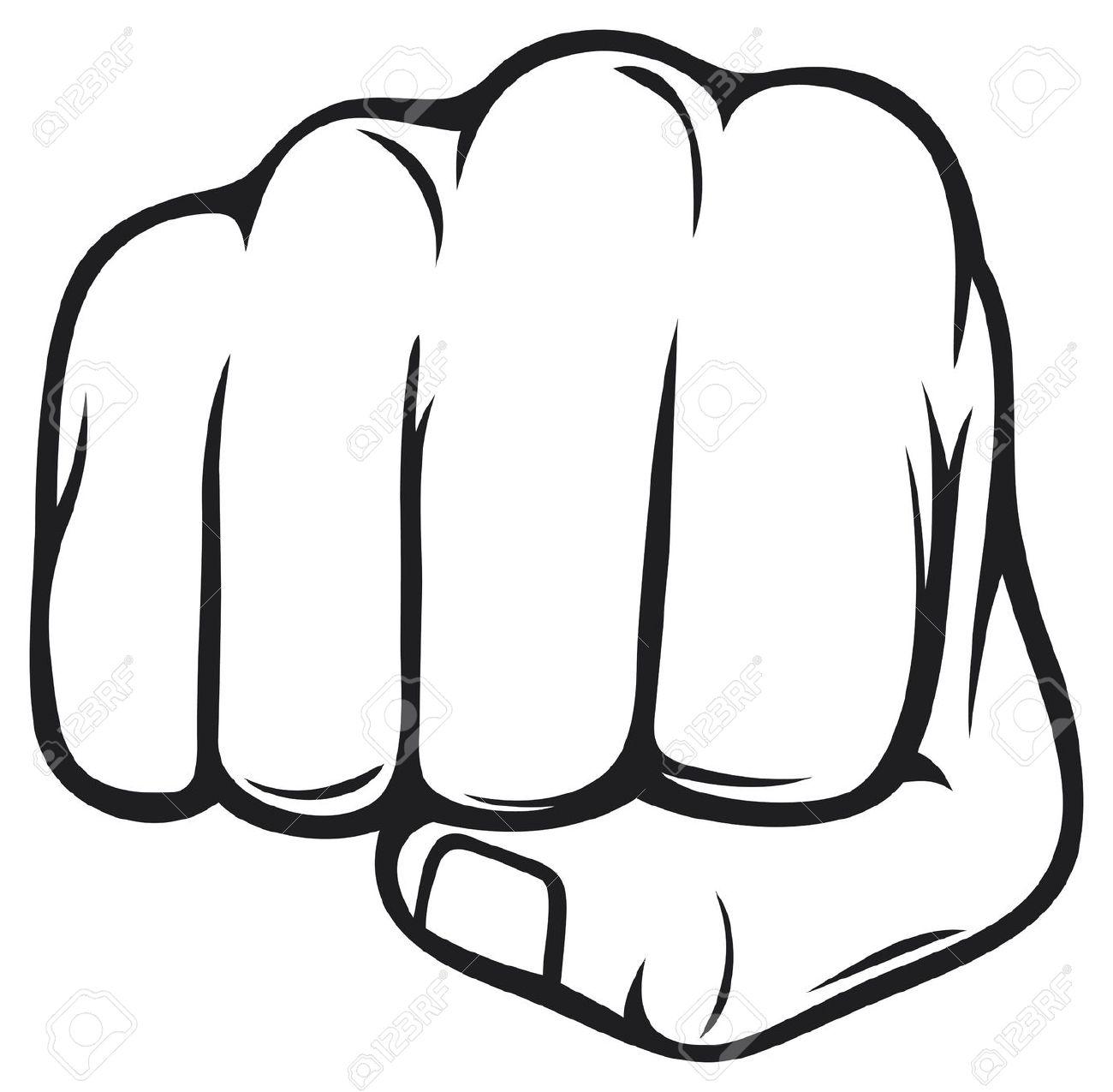 1300x1275 Militant Clipart Hand Punch