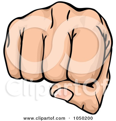 450x470 Royalty Free (Rf) Clip Art Illustration Of A Fist Punching By