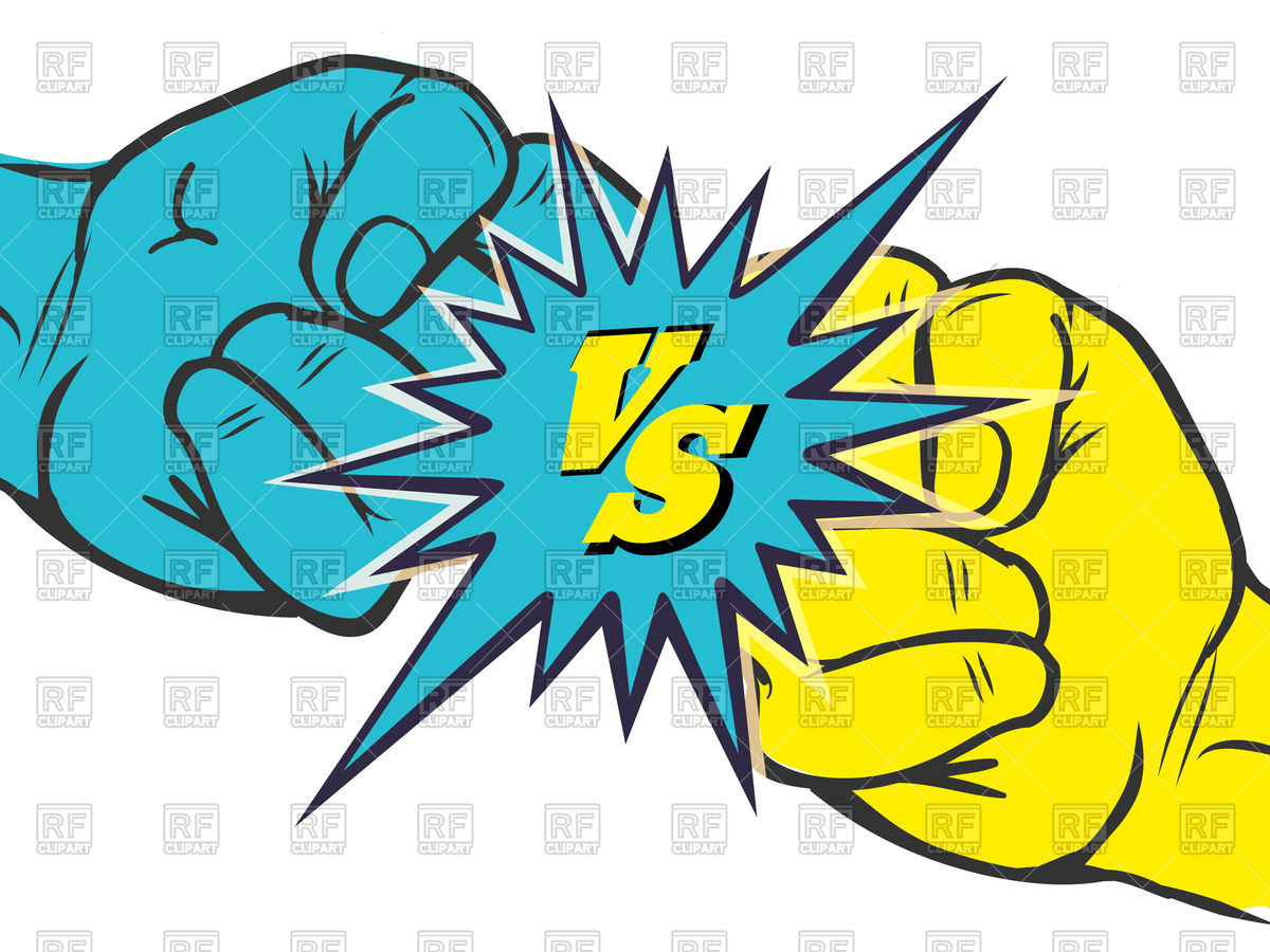 1200x900 Versus Rivalry Fist Royalty Free Vector Clip Art Image