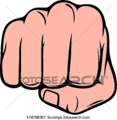 450x460 Clip Art Of Fist Punching (Human Hand Punching) K18798367