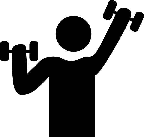600x571 Exercise With Dumbbells Symbol Clip Art