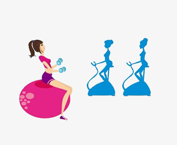 600x493 Cartoon Fitness Girl, Activity Room, Activity, Indoor Activities