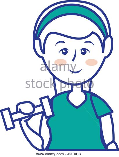 410x540 Cartoon Dumbbell Weight Gym Equipment Stock Photos Amp Cartoon