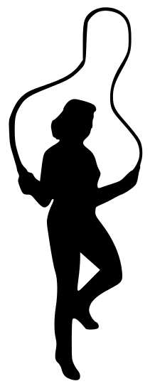 218x550 Fitness Silhouettes Clip Art Download