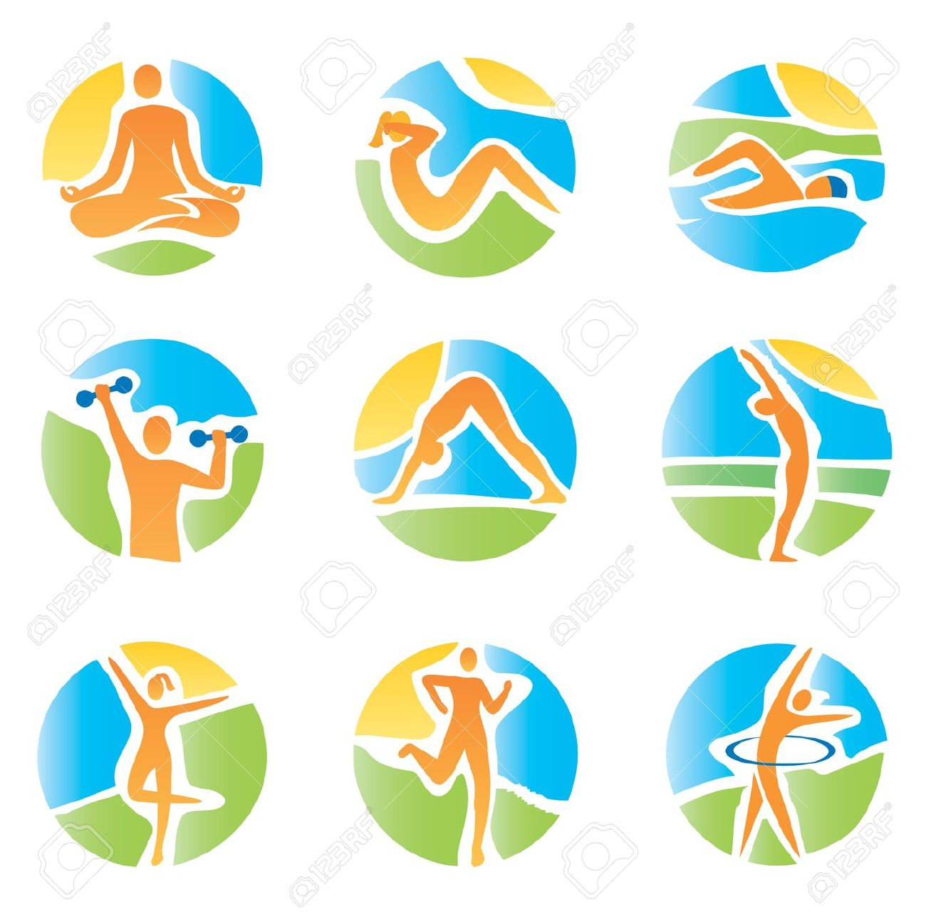 1300x1297 Abstract clipart fitness