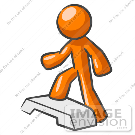 450x450 Cliprt Graphic Ofn Orange Guy Character Stepping Up Onto