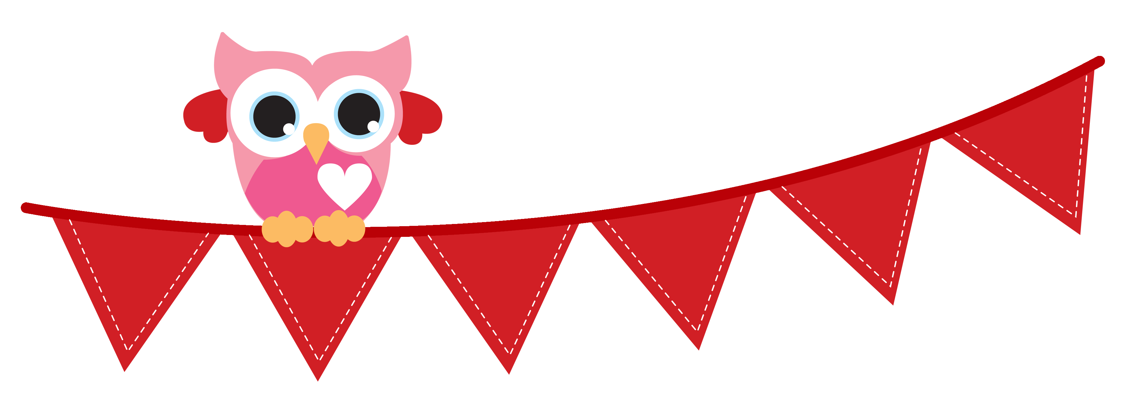 3600x1267 Flag Banner Bunting Banner Clipart 4