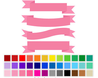 340x270 Blog Banner Clip Art, Digital Ribbon Banner, Flag Clipart
