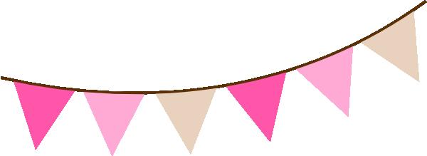 600x219 Pink Flag Banner Clipart Clipartfest