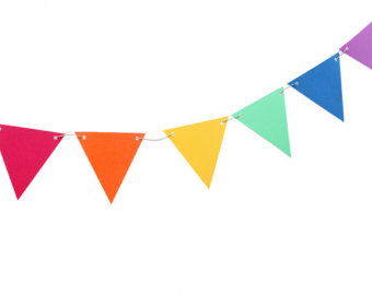 340x270 Triangle Clipart Rainbow Banner