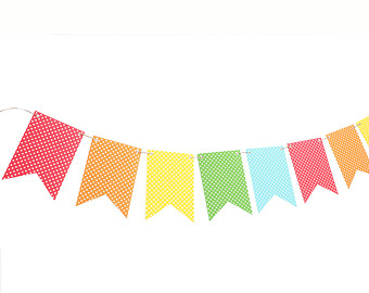 340x270 Triangle Flag Banner Clipart Blue Orange Bunting 2