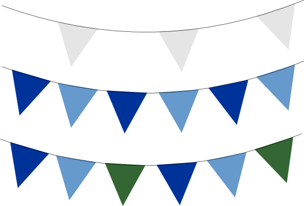600x408 Blue Flag Banner Clipart Clipartfest