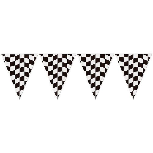 500x500 Checkered Flag Banner Clip Art