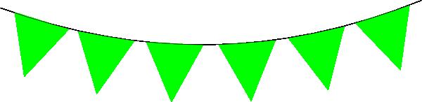 600x146 Green Banner Flag Clip Art