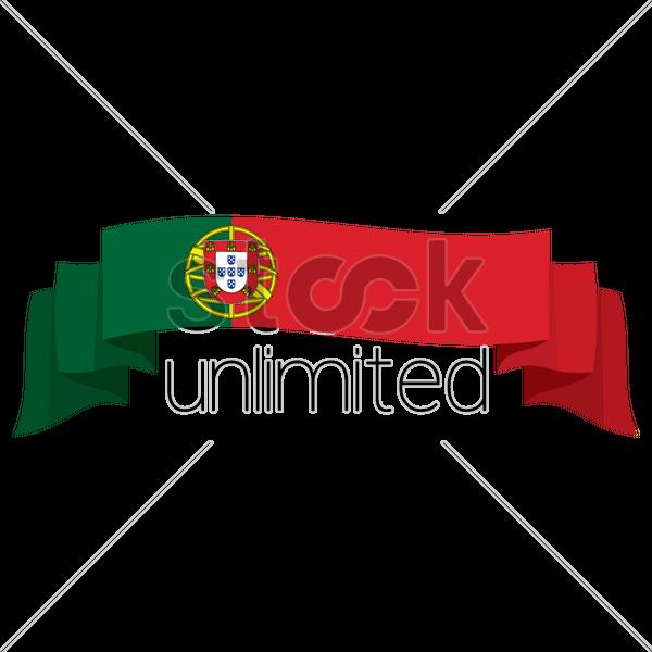 600x600 Portugal Flag Banner Vector Image