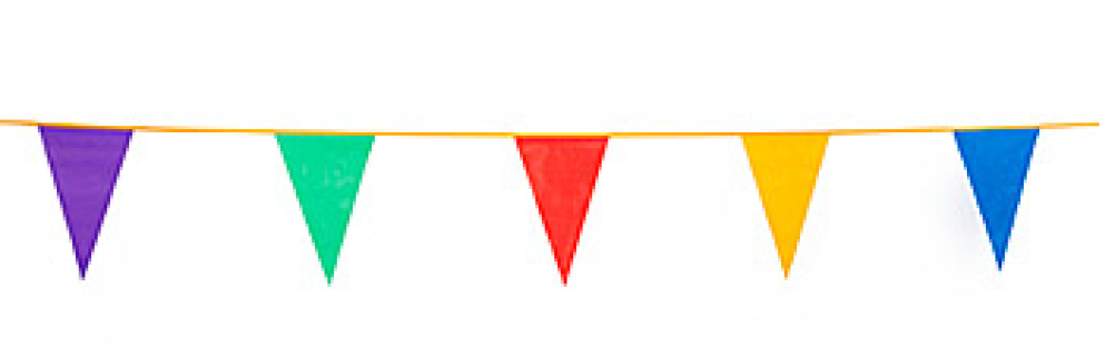 1002x320 Pennant Flags,plastic Carnival Banner,party Pennants,outdoor Flag