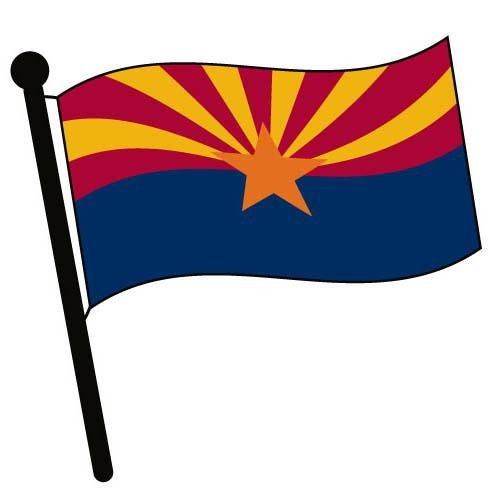 500x500 Arizona Waving Flag Clip Art