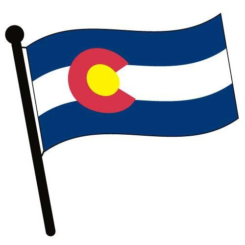 500x500 Colorado Waving Flag Clip Art