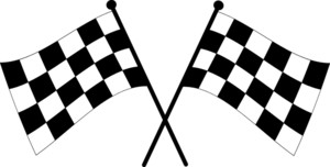 300x152 Black And White Checkered Flag Clip Art