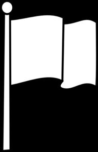 Flag outline. Clipart black and white