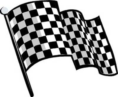 400x331 Nascar Flag Clipart