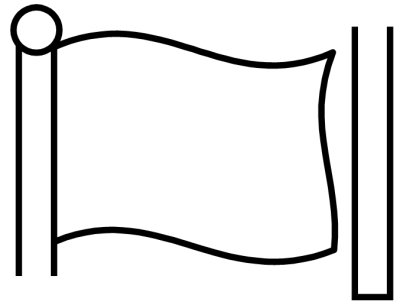 400x305 Flag Clipart Blank Black And White