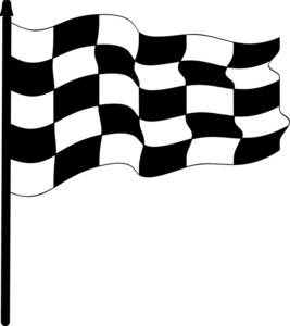 267x300 Checkered Flag Clipart Image
