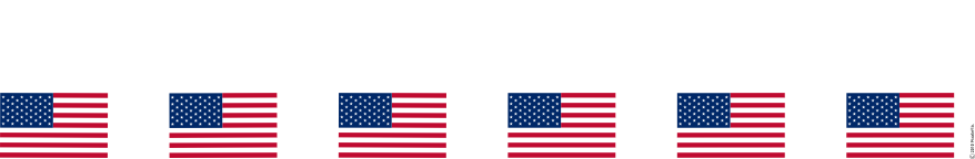 878x144 Free Clipart Border American Flags