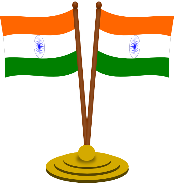 564x593 India Flags Clip Art