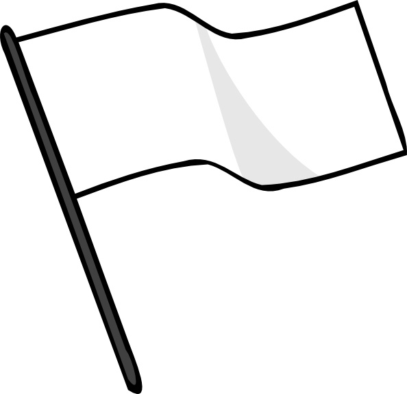 594x574 Waving White Flag Clip Art Free Vector In Open Office Drawing Svg