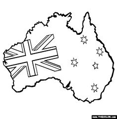 236x240 australian flag clip art black white