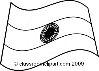 350x250 Flag Clipart Black And White