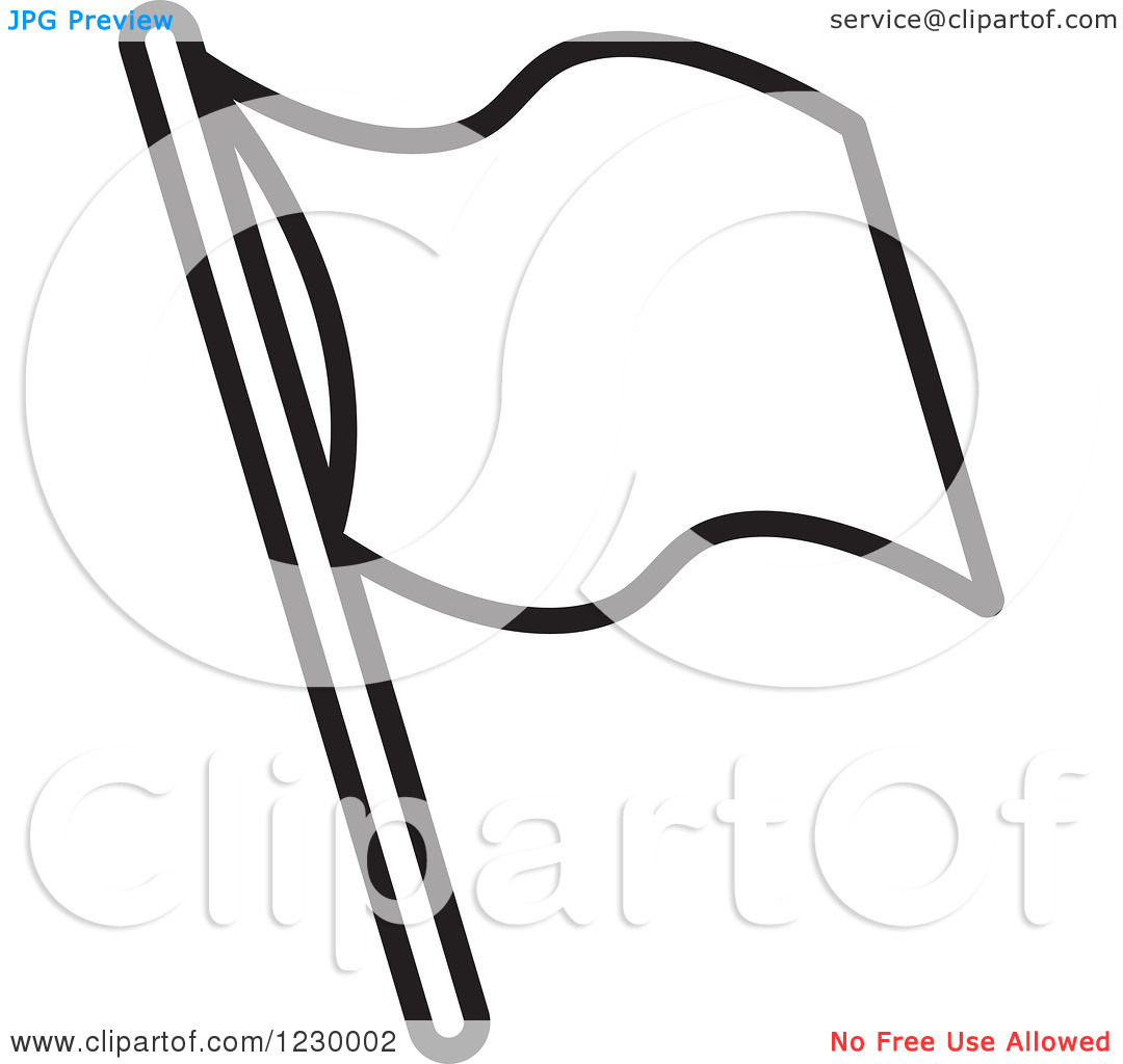 1080x1024 Flag Clipart Blank Black And White