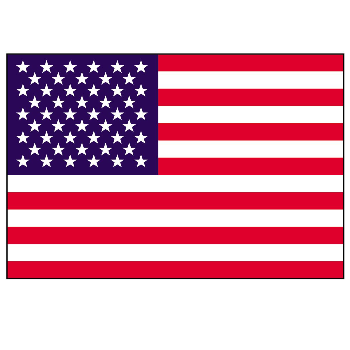 1200x1200 American Flag Free Clip Art