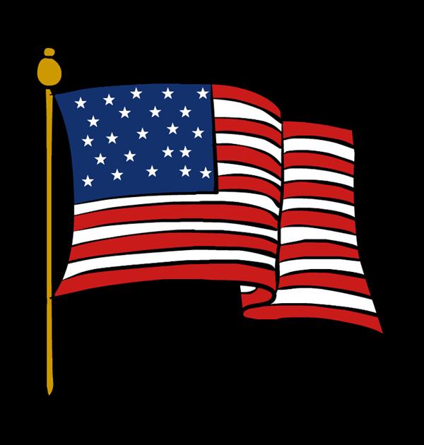 600x630 American flag clip art waving free clipart images clipartix