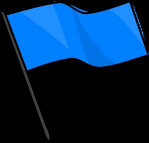 299x288 Blue Flag Clip Art