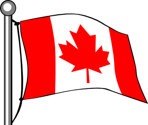 300x253 Canada Flag Flying Clip Art