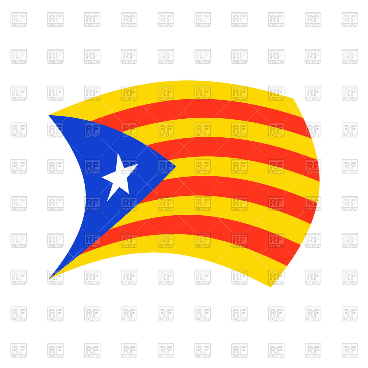 1200x1200 Catalonia Flag Isolated Royalty Free Vector Clip Art Image