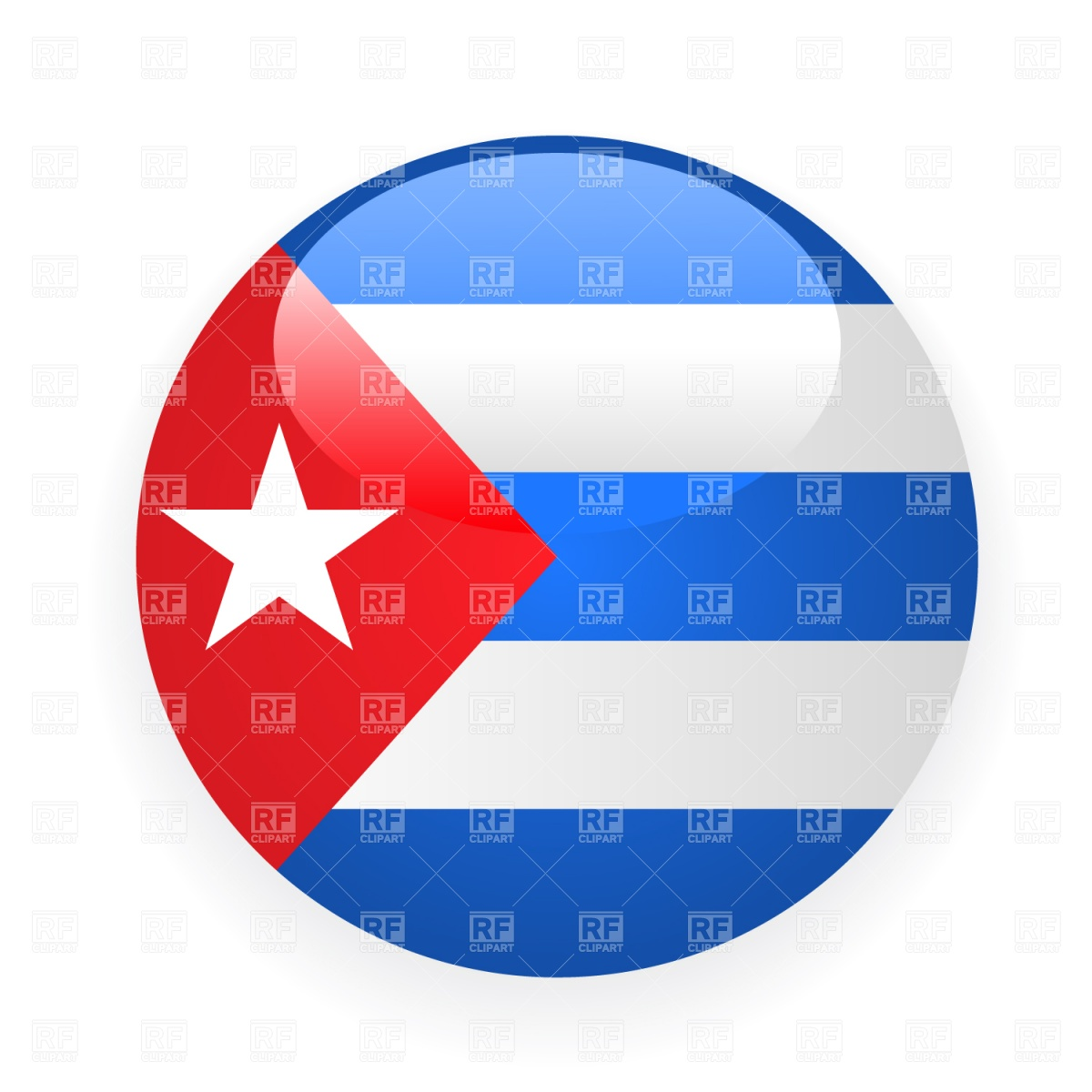 1200x1200 Cuba Button Flag Royalty Free Vector Clip Art Image