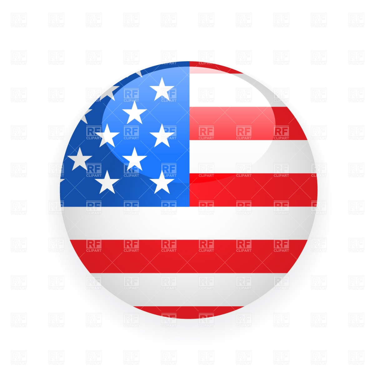 1200x1200 Usa Button Flag Royalty Free Vector Clip Art Image