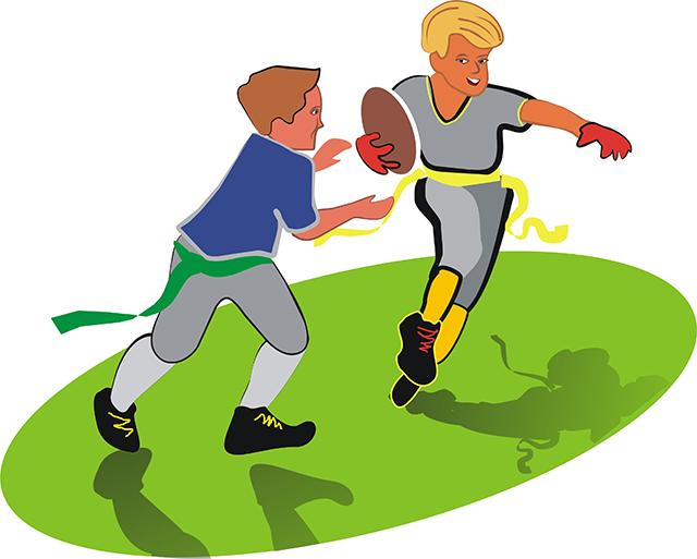 640x513 Graphics For Cartoon Flag Football Graphics