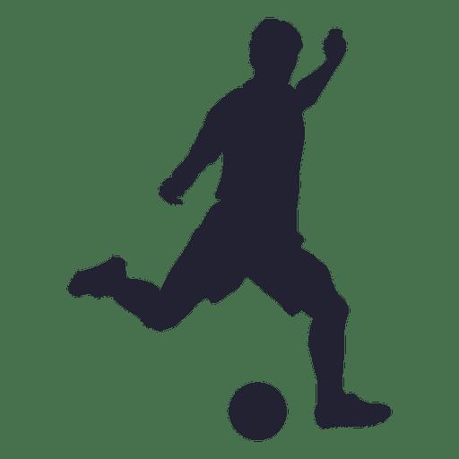 512x512 Football Player Kicking Silhouette
