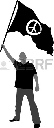 191x450 Man With Flag Silhouette Royalty Free Cliparts, Vectors, And Stock